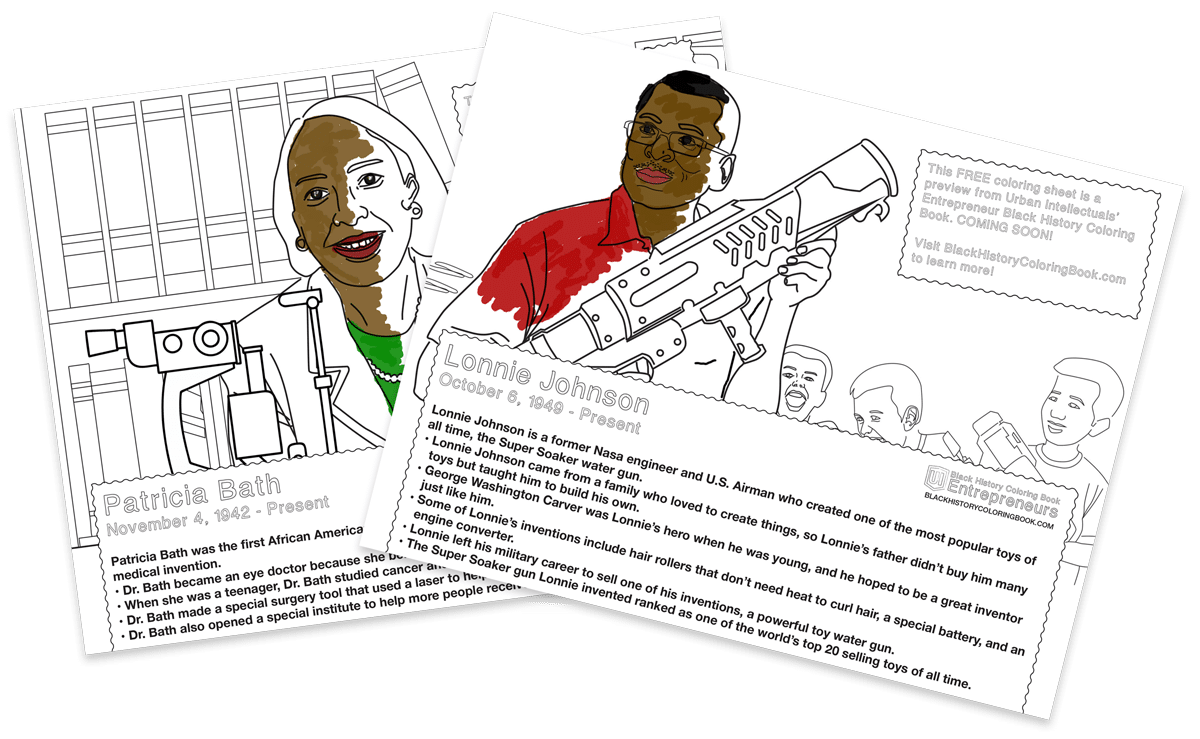 Free Entrepreneur Coloring Sheets | Urban Intellectuals Store